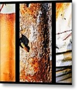 Corrugated Iron Triptych #10 Metal Print