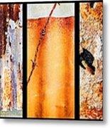 Corrugated Iron Triptych #8 Metal Print