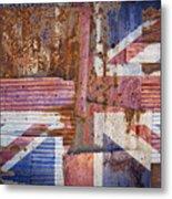 Corrugated Iron United Kingdom Flag Metal Print