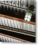 Corrugated Metal Abstract 10 Metal Print