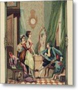 Corset Trade Card, 1912 Metal Print