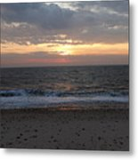 Corton Beach Emerging Ocean Sun 1 Metal Print