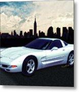 Corvette C-5 1997-2004 Metal Print