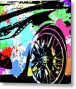 Corvette Pop Art 3 Metal Print