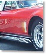 Corvette Soft Top Metal Print