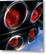 Corvette Tail Lights Metal Print