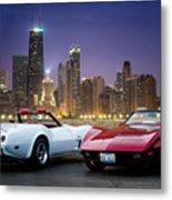 Corvettes In Chicago Metal Print