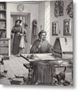 Cosimo Medici Sitting In His Home In Florence Metal Print