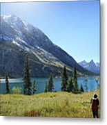 Cosley Ridge Over Cosley Lake - Glacier National Park Metal Print