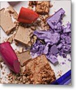 Cosmetics Mess Metal Print