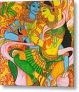 Cosmic Dance Of Krsna  Metal Print