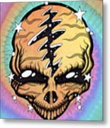 Cosmic Head Metal Print