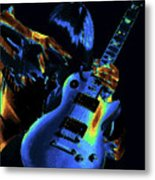 Cosmic Rock Guitar Metal Print