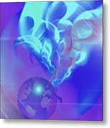 Cosmic Wave Metal Print