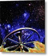 Cosmic Wheel Metal Print