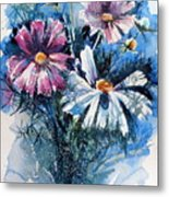 Cosmos Flowers Metal Print