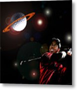 Cosmos Golf Metal Print