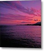 Costa Del Sol Sunset In Marbella Metal Print