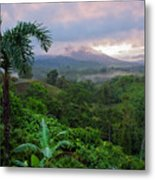Costa Rica Volcano View Metal Print