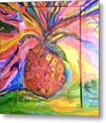 Costa Rican Pineapple Metal Print