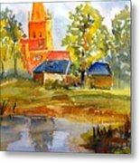 Cotswolds England Church Metal Print