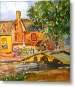 Cotswolds Town Study Metal Print