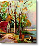 Cottage Country The Eastern Townships A Romantic Summer Landscape Metal Print by Carole Spandau