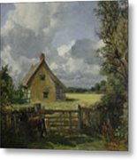 Cottage In A Cornfield Metal Print