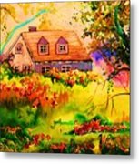 Cottage In Maine Metal Print