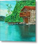 Cottage On Lake  Metal Print