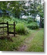 Cottage Path Metal Print