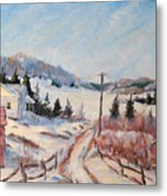 Cottage Road Metal Print