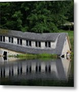 Cottage Sinking In The Rideau Canal Metal Print