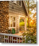 Cottage Sunset In Deep Cove, Nova Scotia Metal Print