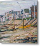 Cottages Along Moody Beach Metal Print