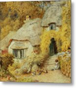 Cottages At Selworthy, Somerset Metal Print