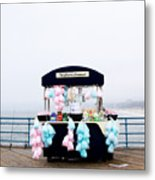 Cotton Candy Carousel- By Linda Woods Metal Print