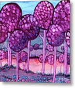 Cotton Candy Forest Metal Print