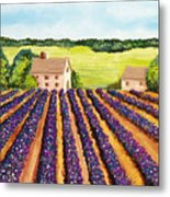 Cotton Fields Metal Print