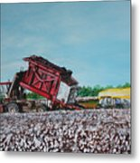 Cotton Pickin' Business Metal Print