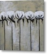 Cotton Row In Neutral Metal Print