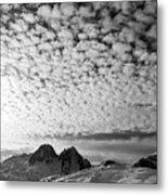 Cotton Sky Chamonix France Metal Print