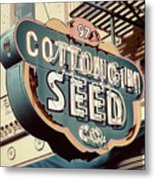 Cottongim Seed Metal Print