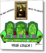 Couch Art Metal Print