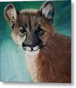 Cougar Cub Metal Print