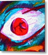 Cought In Her Eye Metal Print