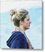 Country Angel - Paint Fx Metal Print