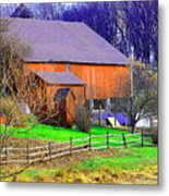 Country Barn Metal Print