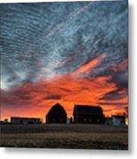 Country Barns Sunrise Metal Print