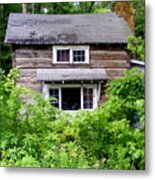 Country Cabin Metal Print